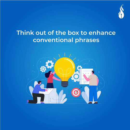 Read more about the article Think out of the box to enhance conventional phrases