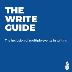 Read more about the article The Inclusion of Multiple Events in Writing